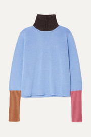 Marni Color-block cashmere turtleneck sweater