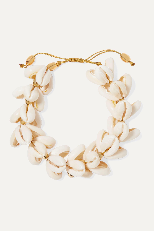 Tohum Gold-plated shell bracelet