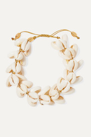 Tohum Gold-plated shell bracelet