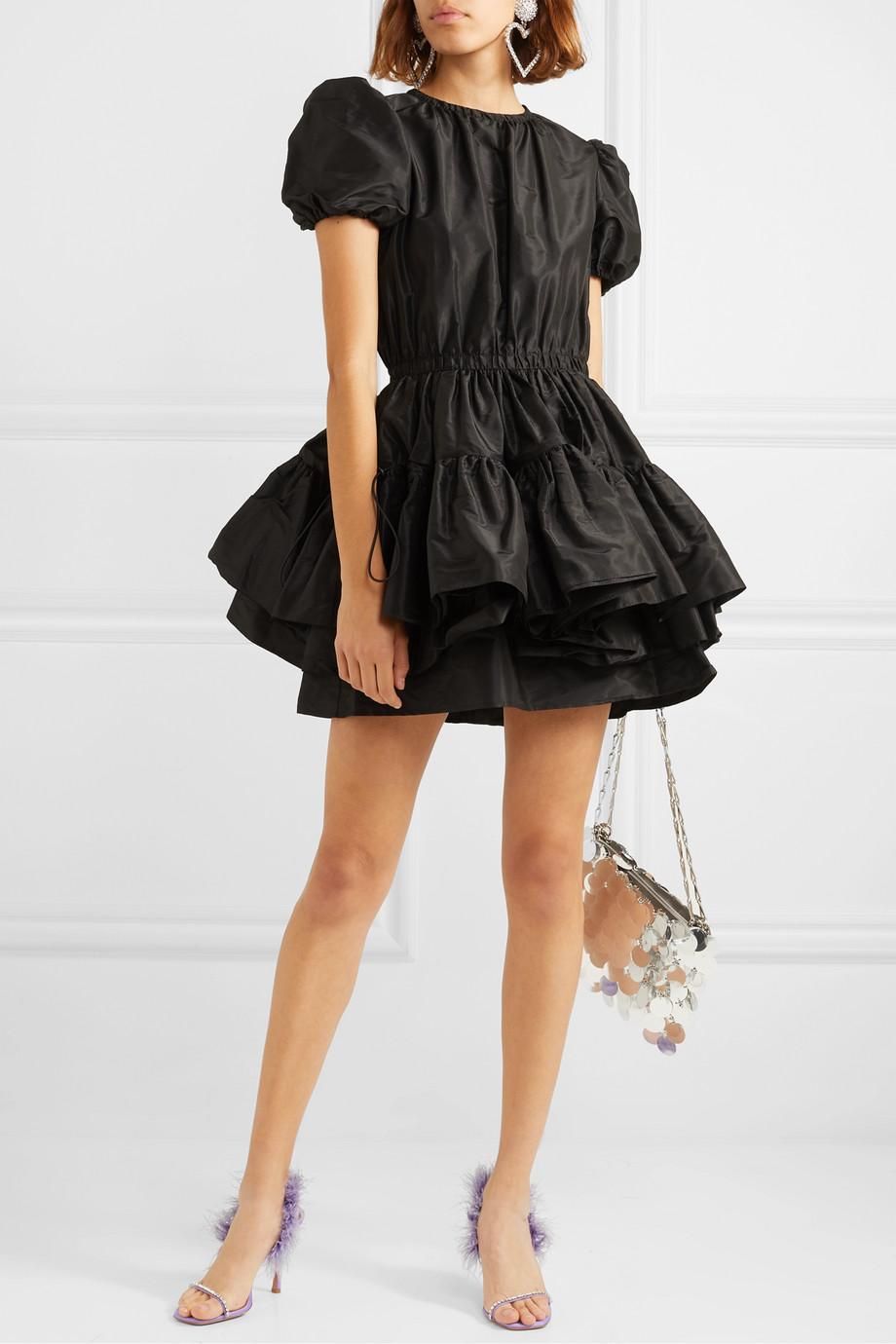 Miu Miu Layered silk-taffeta mini dress