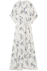Reformation Winslow floral-print georgette wrap maxi dress