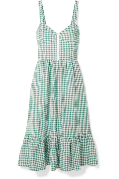 78f1ff16e9ddb Reformation. Dolci gingham linen midi dress