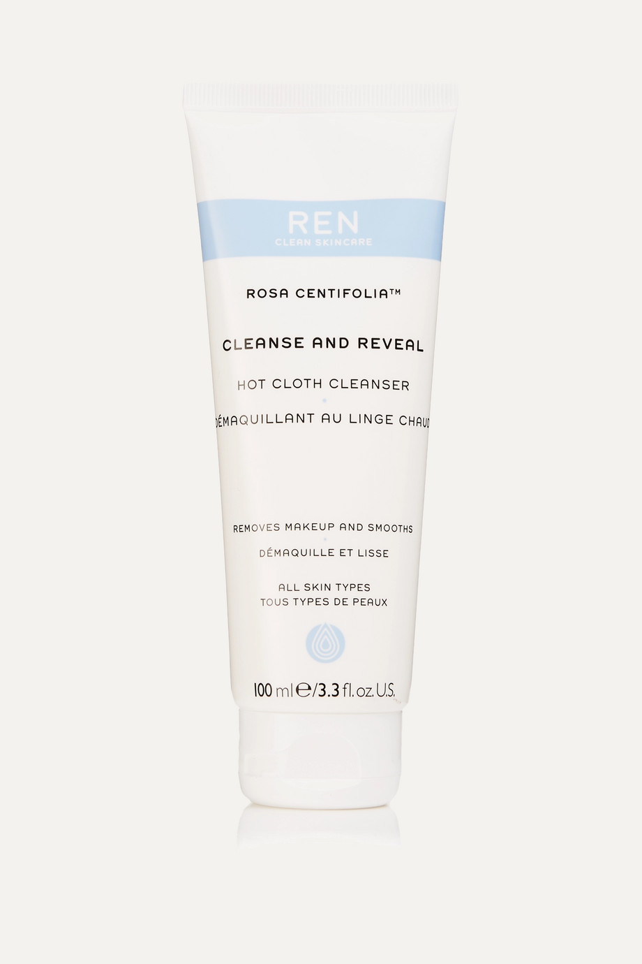 REN Clean Skincare Rosa Centifolia - Cleanse & Reveal Hot Cloth Cleanser, 100ml