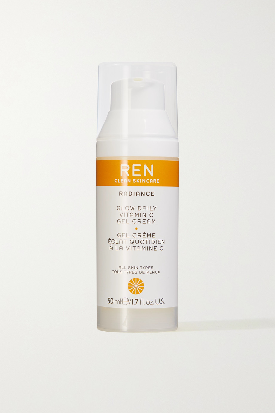 REN Clean Skincare Glow Daily Vitamin C Gel Cream, 50ml