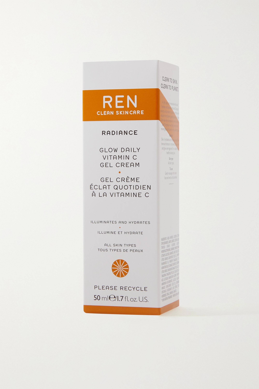 REN Clean Skincare + NET SUSTAIN Glow Daily Vitamin C Gel Cream, 50 ml – Feuchtigkeitscreme