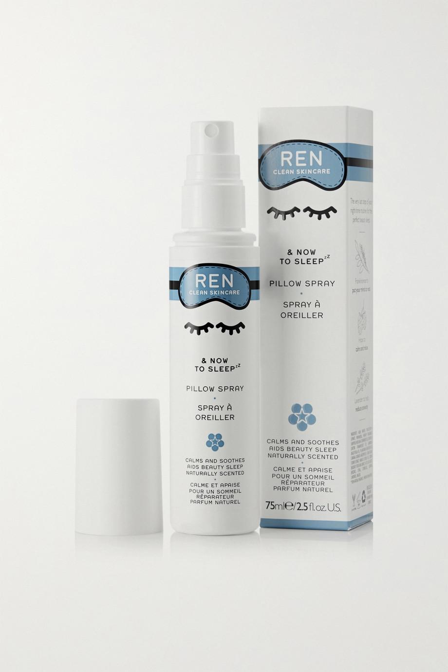 REN Clean Skincare & Now to Sleep Pillow Spray, 75ml