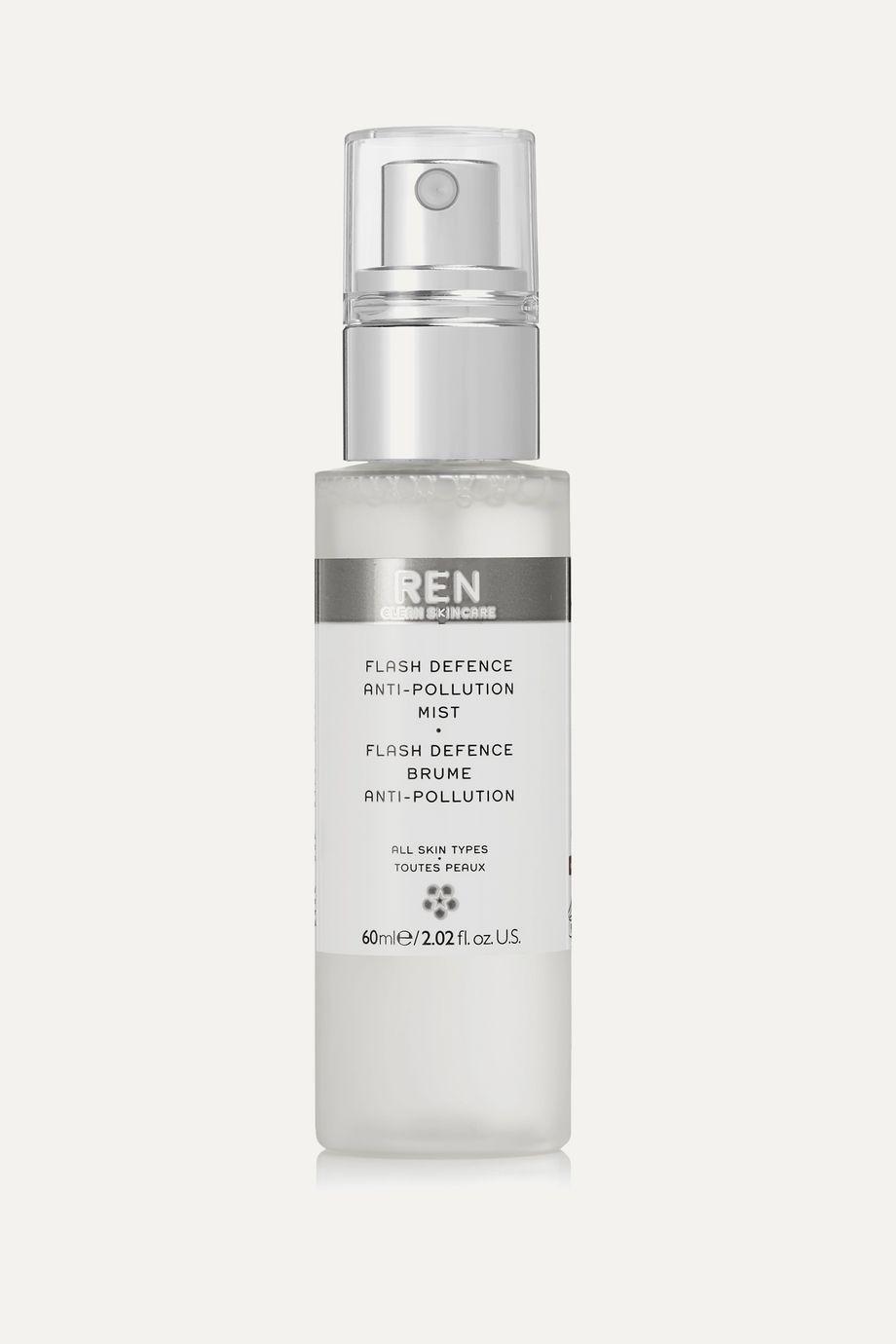 REN Clean Skincare Flash Defence Anti-Pollution Mist, 60ml