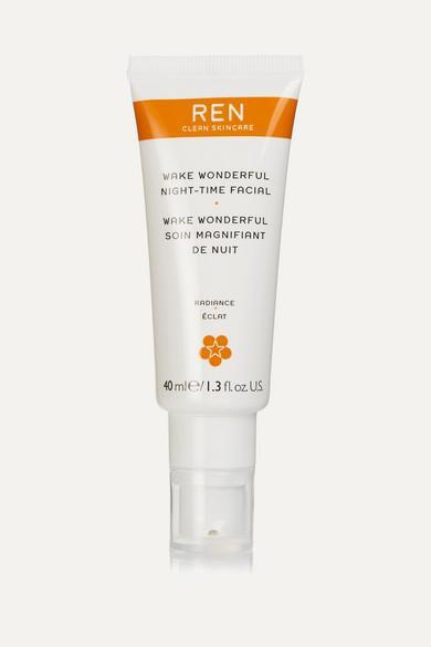 Ren Clean Skincare Wake Wonderful Night-time Facial, 40ml In Colorless