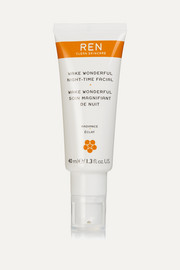 REN Clean Skincare Wake Wonderful Night-Time Facial, 40ml