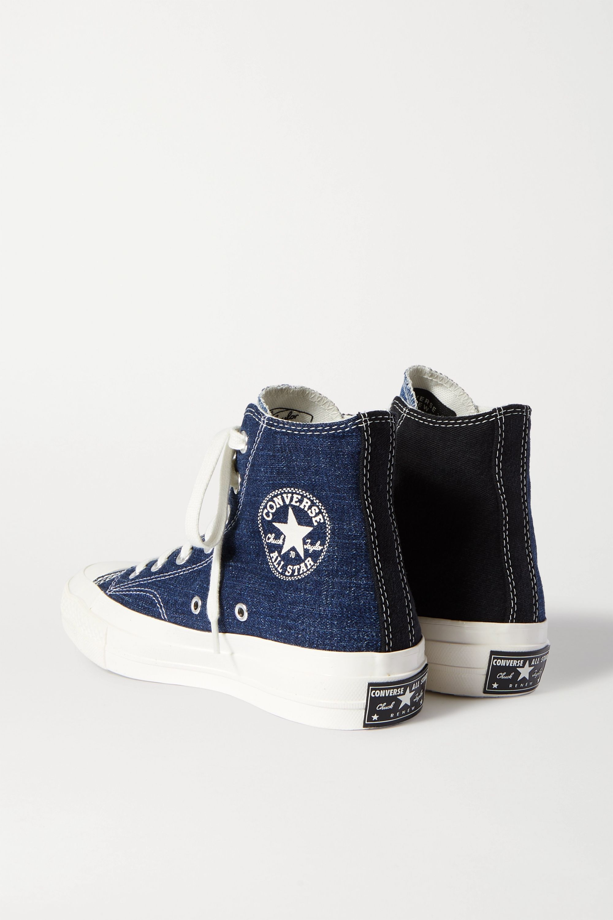 Converse Chuck Taylor All Star 70 two-tone denim high-top sneakers