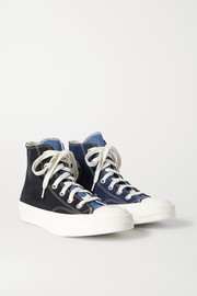 Chuck Taylor All Star 70 two-tone denim high-top sneakers