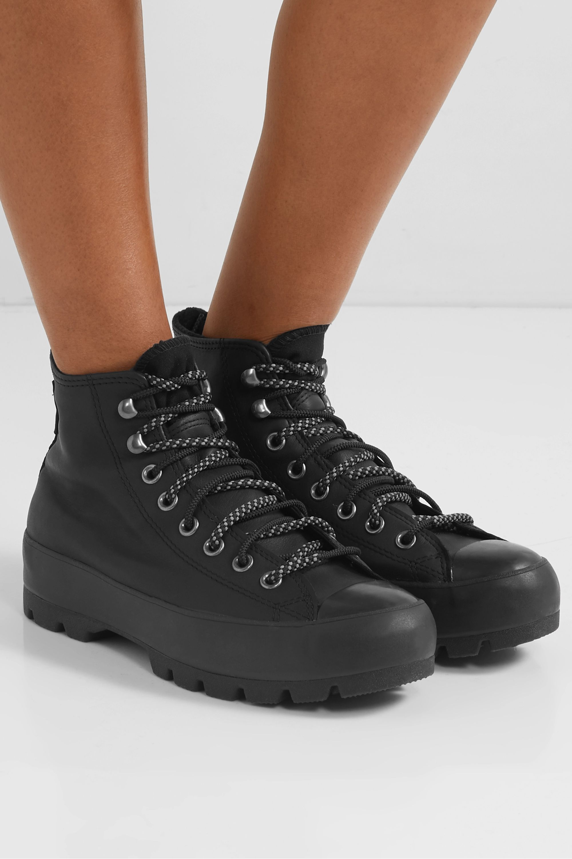 Sneakers Shoe High top Converse Boot, cotton boots, leather