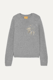Le Lion Virgo embellished embroidered wool sweater