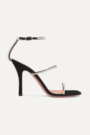Gilda crystal-embellished suede sandals