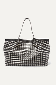 Serapian Mosaico woven leather tote