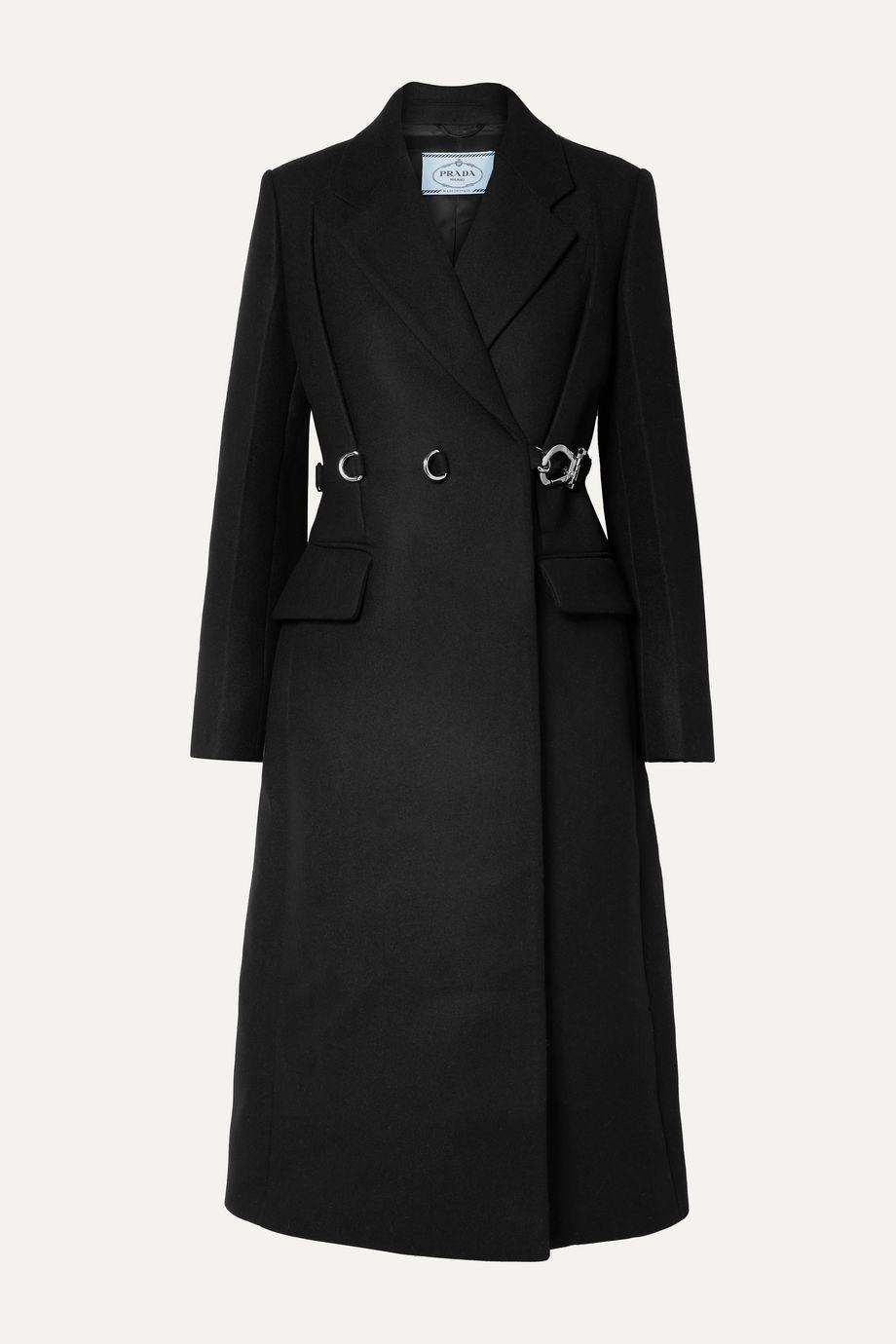 Prada Manteau en laine à ceinture