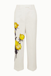 Prada Floral-print cotton-poplin straight-leg pants