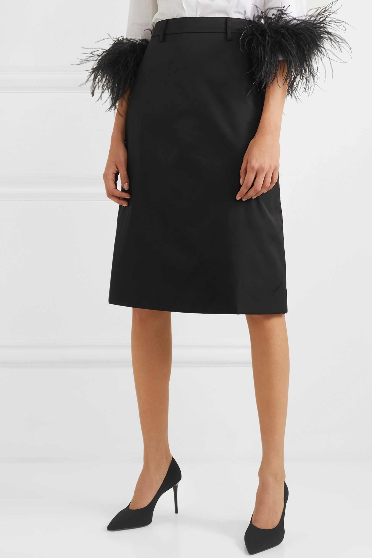 Prada Appliquéd nylon midi skirt