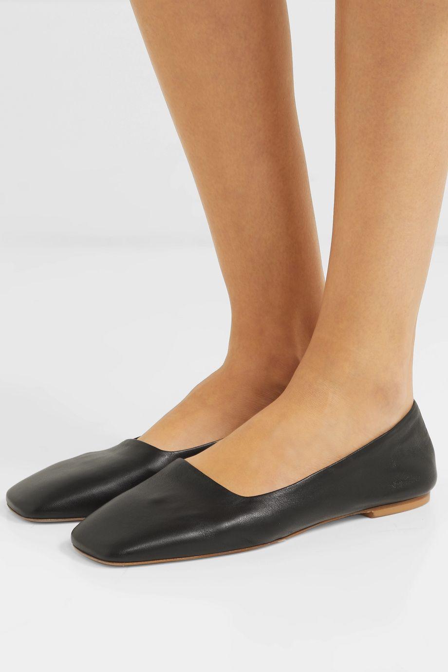 aeydē Beau leather ballet flats