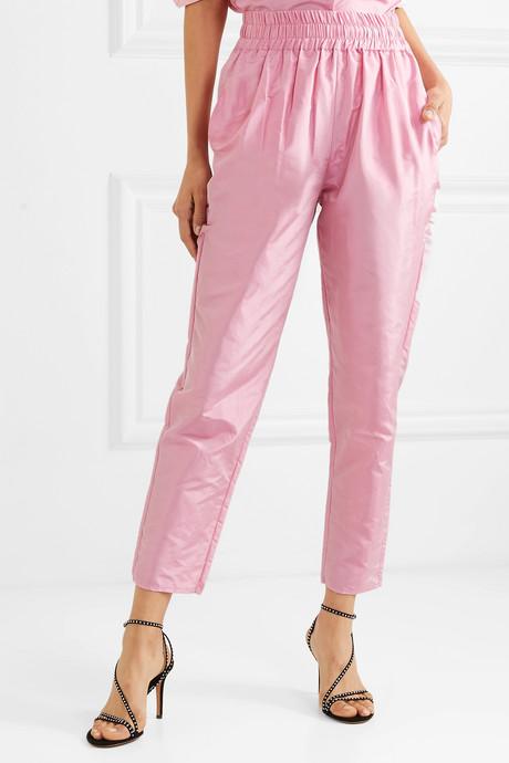 Topkapi silk-taffeta tapered pants