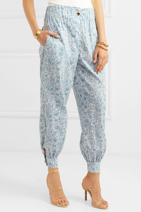 Patmos printed cotton-gauze tapered pants