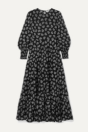 Pip floral-print tiered fil coupé cotton maxi dress