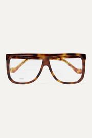Loewe Oversized D-frame tortoiseshell acetate optical glasses