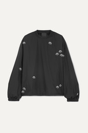 adidas Originals By Alexander Wang Embroidered shell sweatshirt