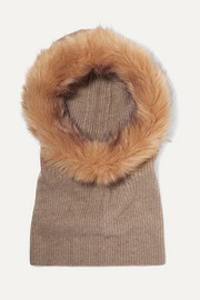 Paulina cashmere and faux fur snood
