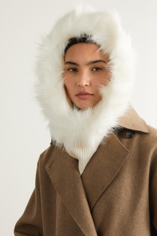 Eugenia Kim Paulina cashmere and faux fur snood