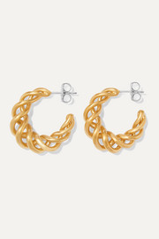 Large gold-plated hoop earrings