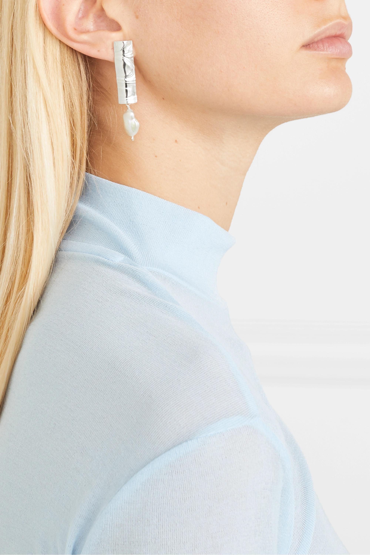 Leigh Miller Boucles d'oreilles en argent et perles - NET SUSTAIN