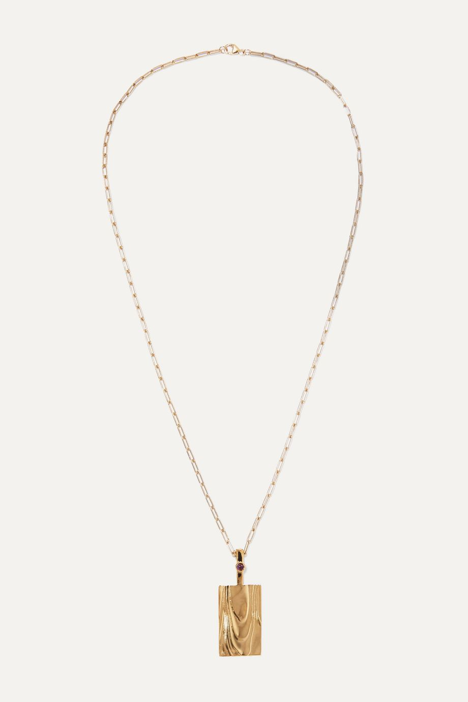 Leigh Miller + NET SUSTAIN Erte gold-plated amethyst necklace