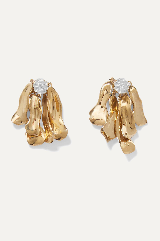 Leigh Miller + NET SUSTAIN gold-plated earrings