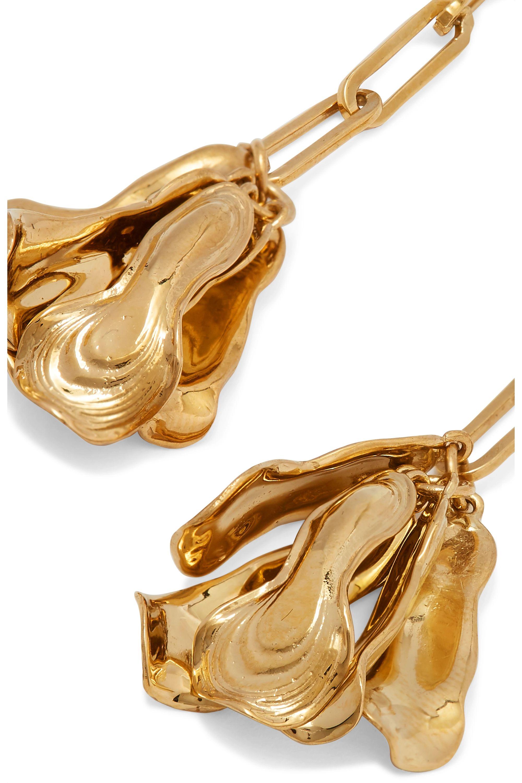 Leigh Miller + NET SUSTAIN Azalea gold-plated earrings