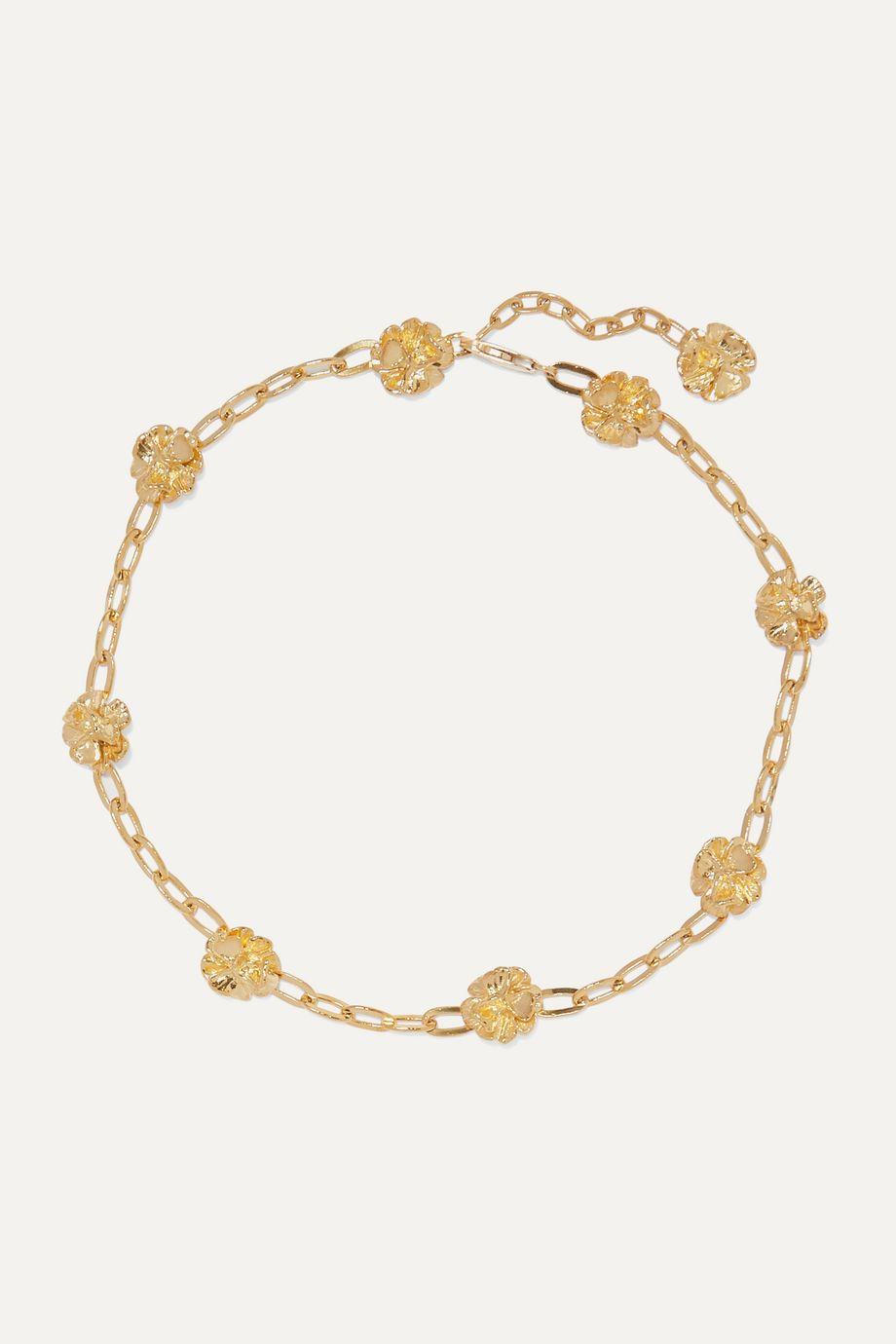 Leigh Miller + NET SUSTAIN gold-plated choker