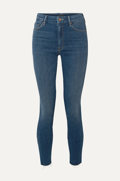 The Looker frayed high-rise skinny jeans