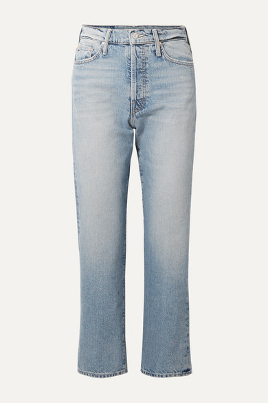 The Huffy Flood cropped high-rise straight-leg jeans