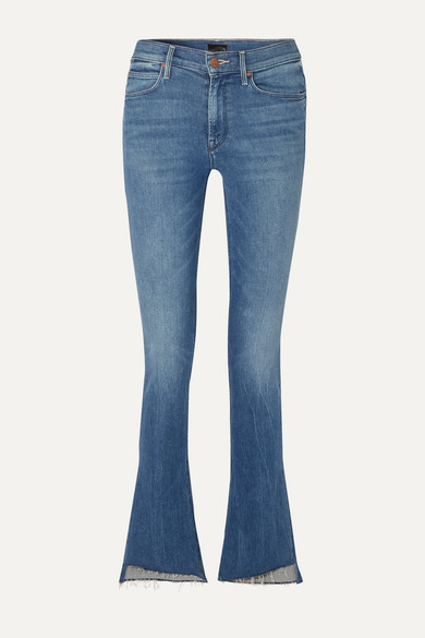The Runaway frayed mid-rise flared jeans