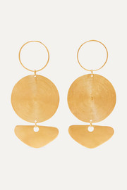 Citara gold-plated earrings