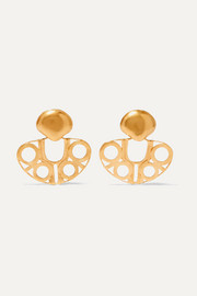 Atrato gold-plated earrings