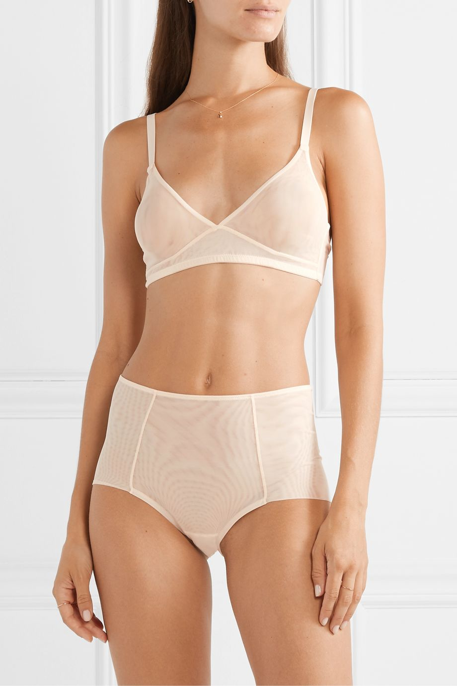 The Great Eros Canova stretch-tulle soft-cup bra