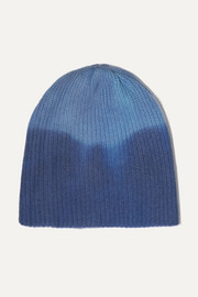 The Elder Statesman Watchman ribbed tie-dyed cashmere beanie
