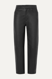 Totême Novara cropped leather straight-leg pants