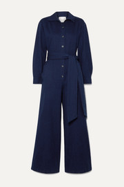 King & Tuckfield Belted denim jumpsuit