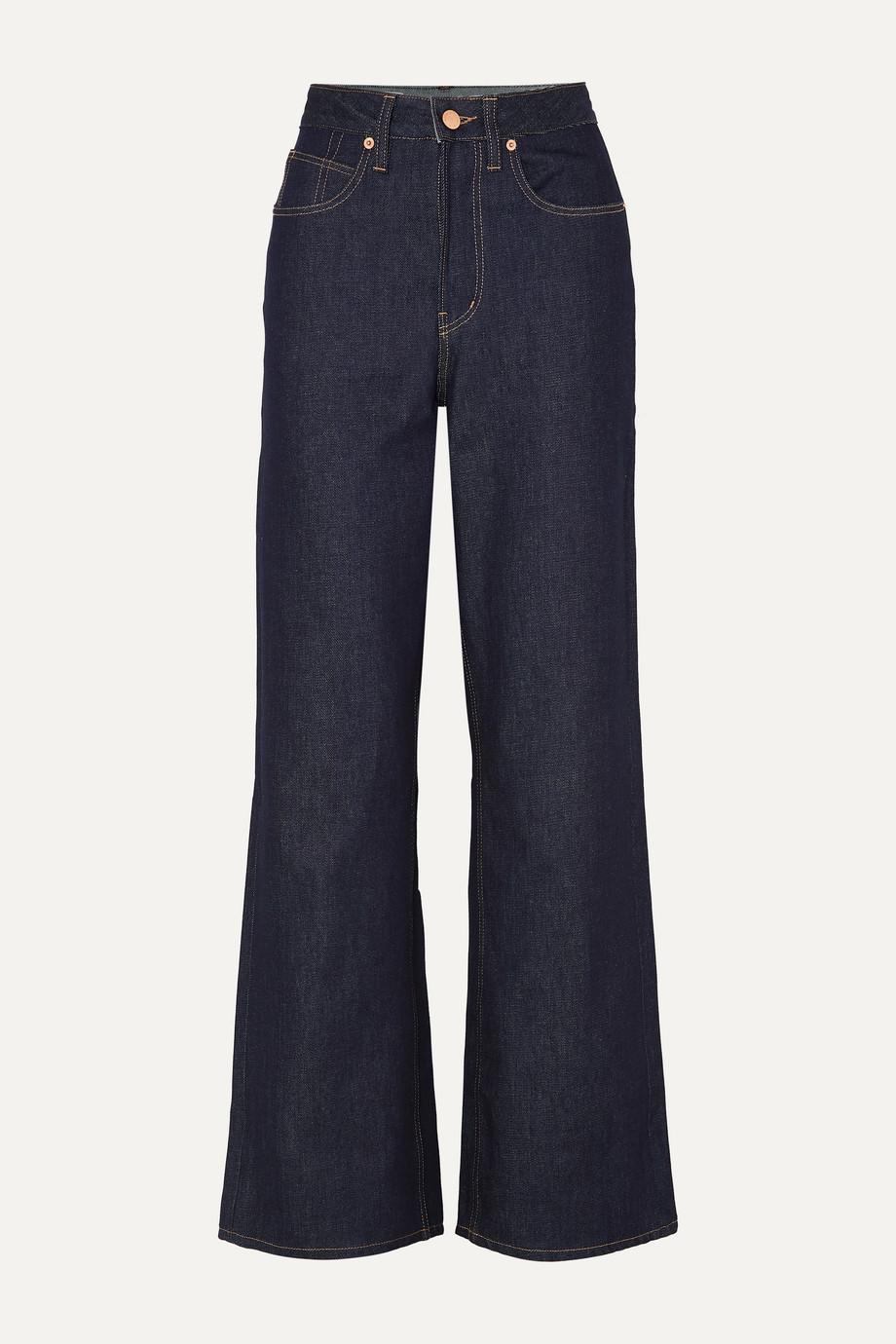 King & Tuckfield Kathleen high-rise wide-leg jeans
