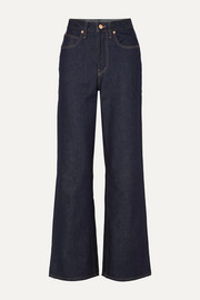 King & Tuckfield Kathleen high-rise wide-leg jeans