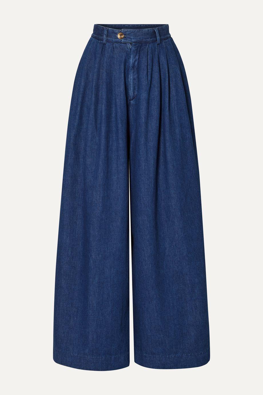 King & Tuckfield High-rise wide-leg jeans