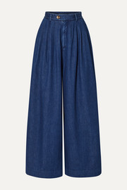 King & Tuckfield High-rise wide-leg jeans