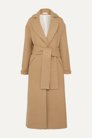 King & Tuckfield Oversized belted wool-blend coat